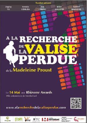 à la recherche de la valise perdue projet Rhizome master 1 PSM Montbéliard